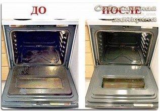 Без проблем отмываем духовку